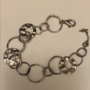 Silpada Hammered Silver Bracelet